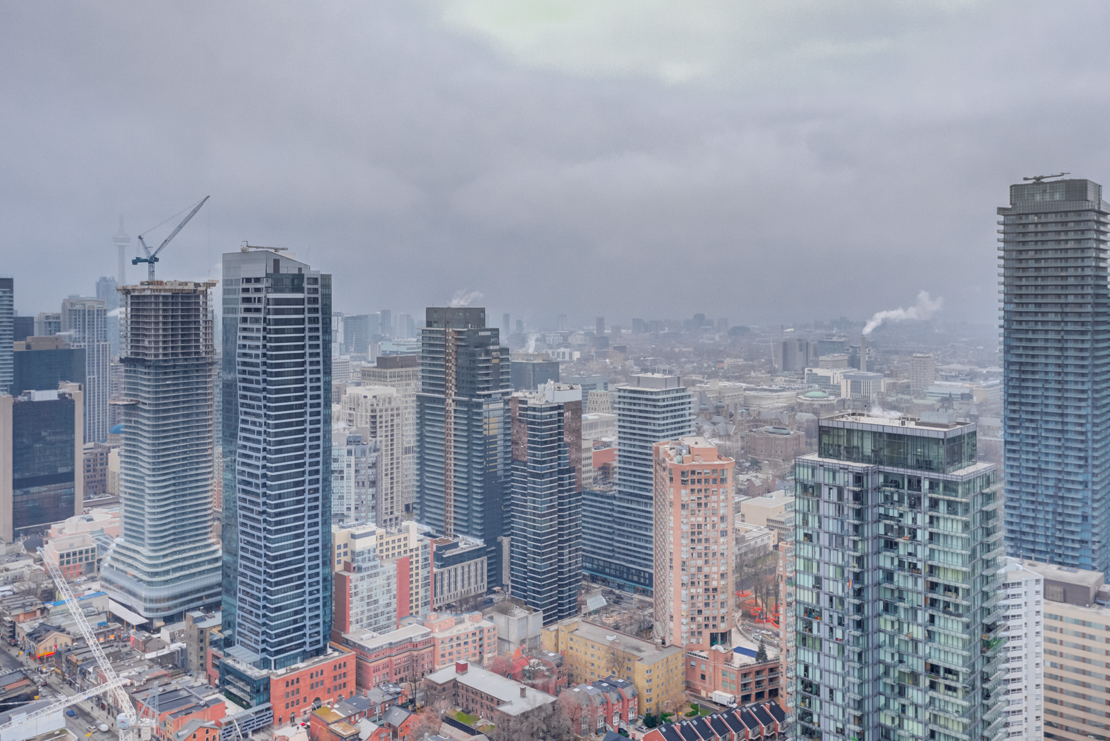 View of Yonge and Bloor from balcony of 33 Charles