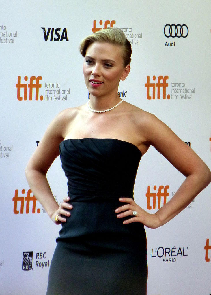Photo of Scarlett Johansson at TIFF on King Street West