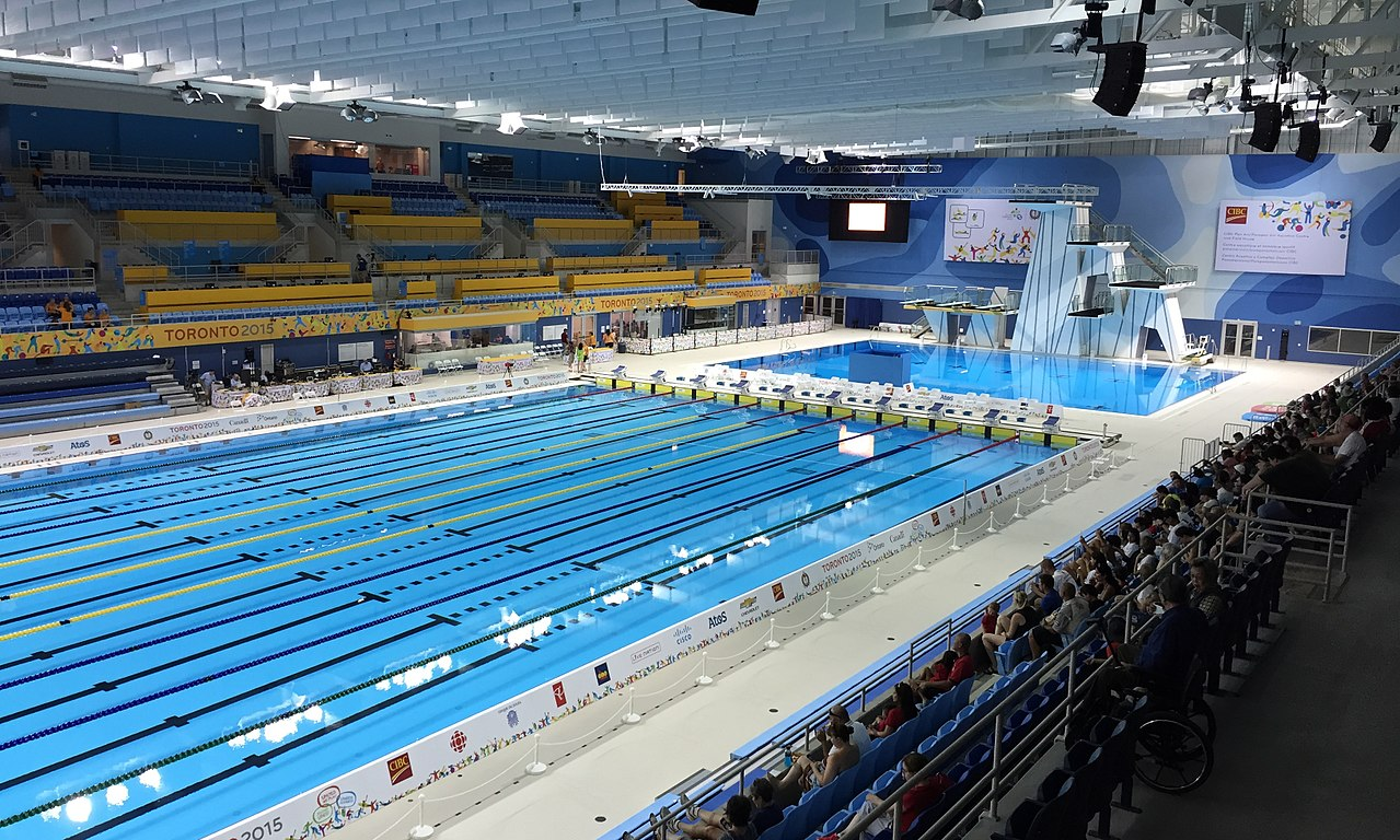Image of swimming pool from 2015 Pan Am Games in Toronto Real Estate Agent.