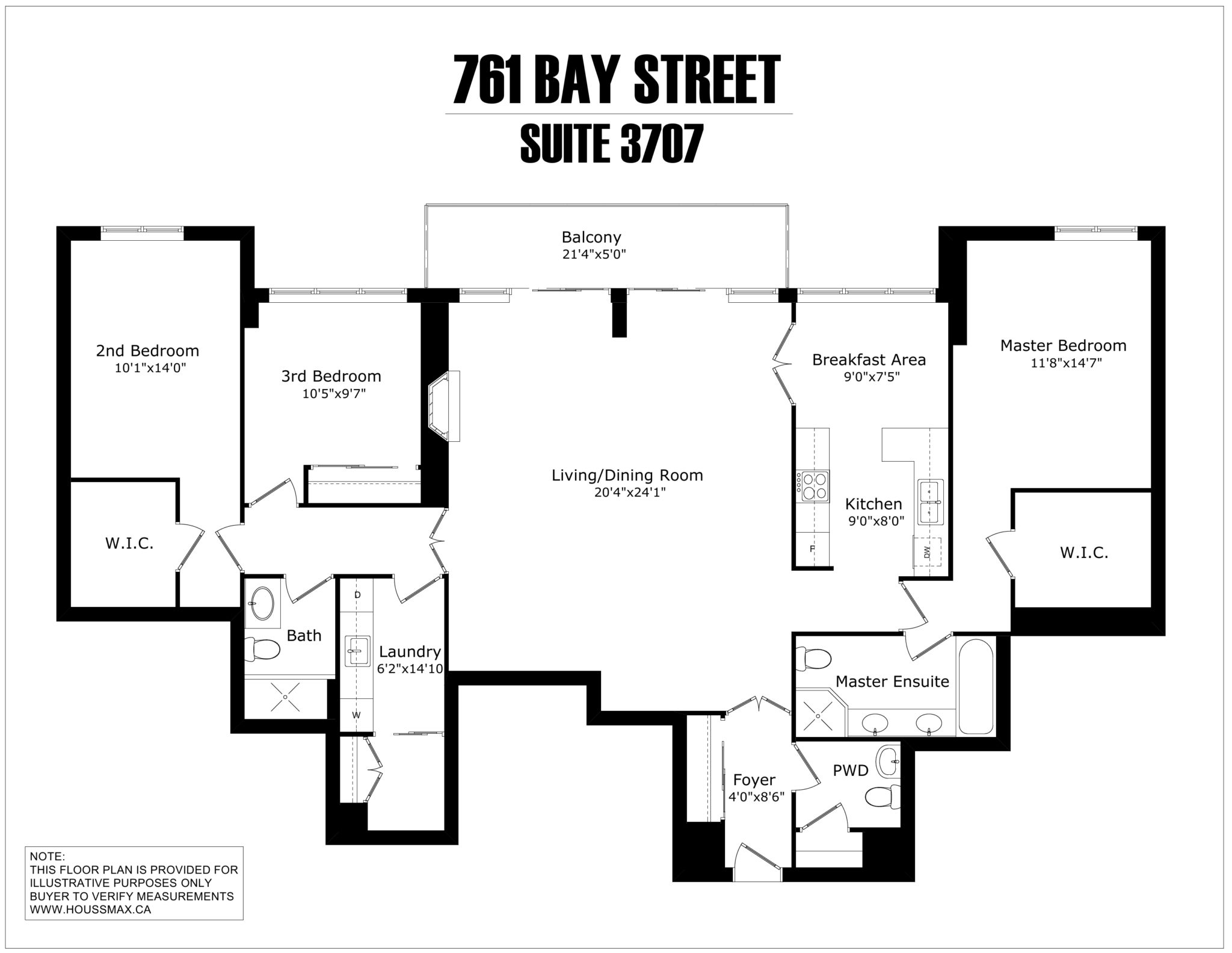 761 Bay Street - Unit 3707 - Floor Plans