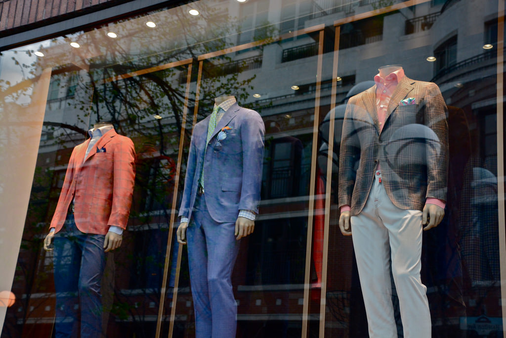 Photo of men's clothing and suits.