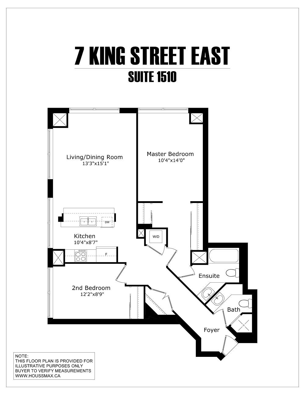 Floor plans for 7 King Street East.