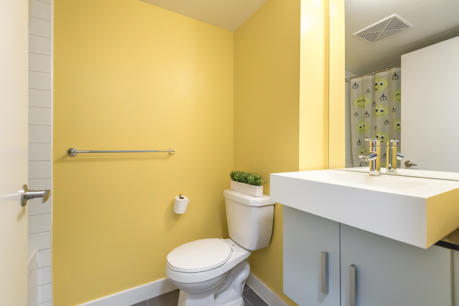 Another washroom; this is less in size yet colourful and pretty.