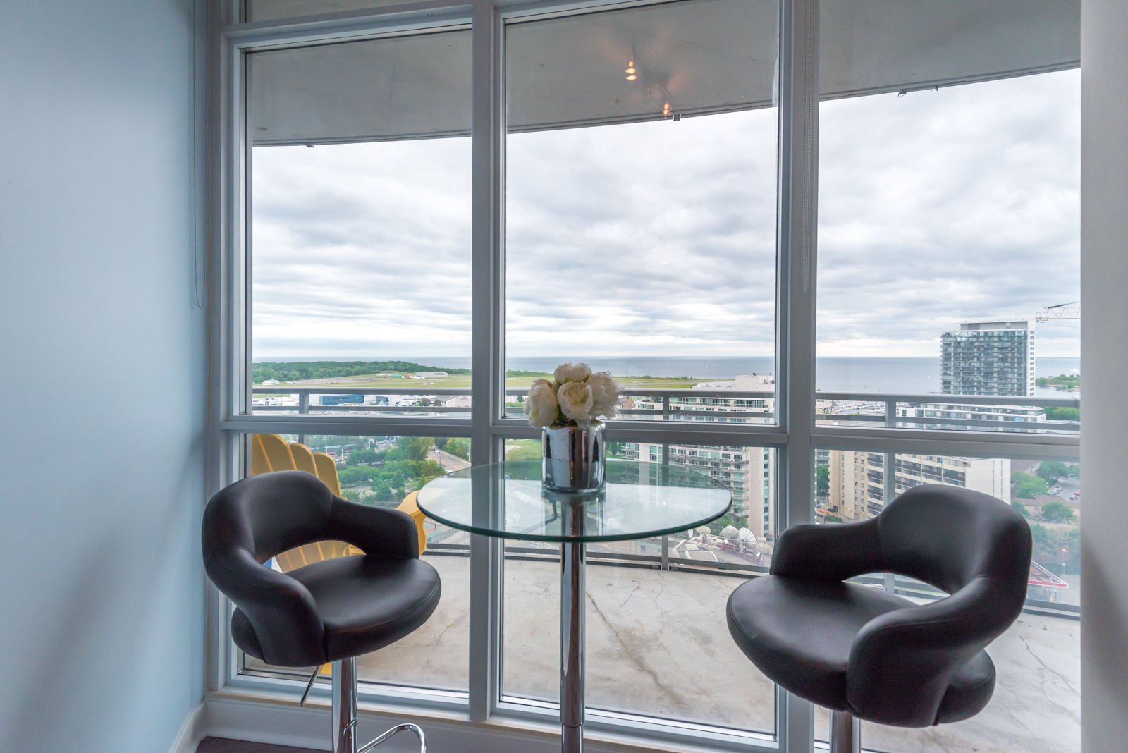 A lovely view of Toronto from the dining room and windows.