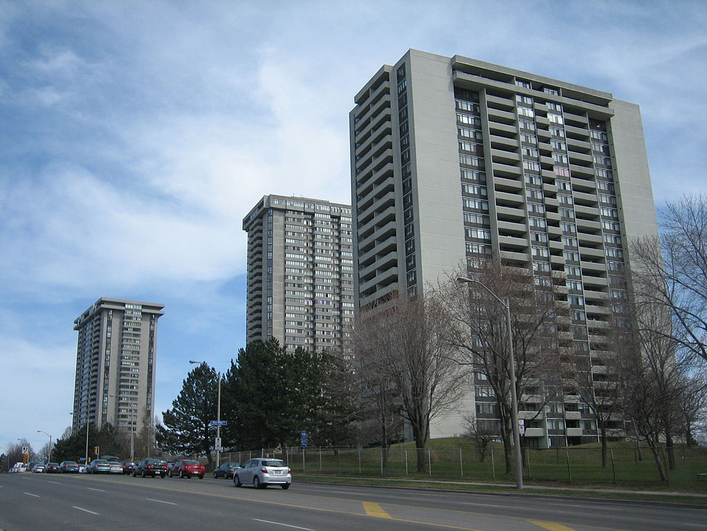 Apartments and roads in Don Valley.