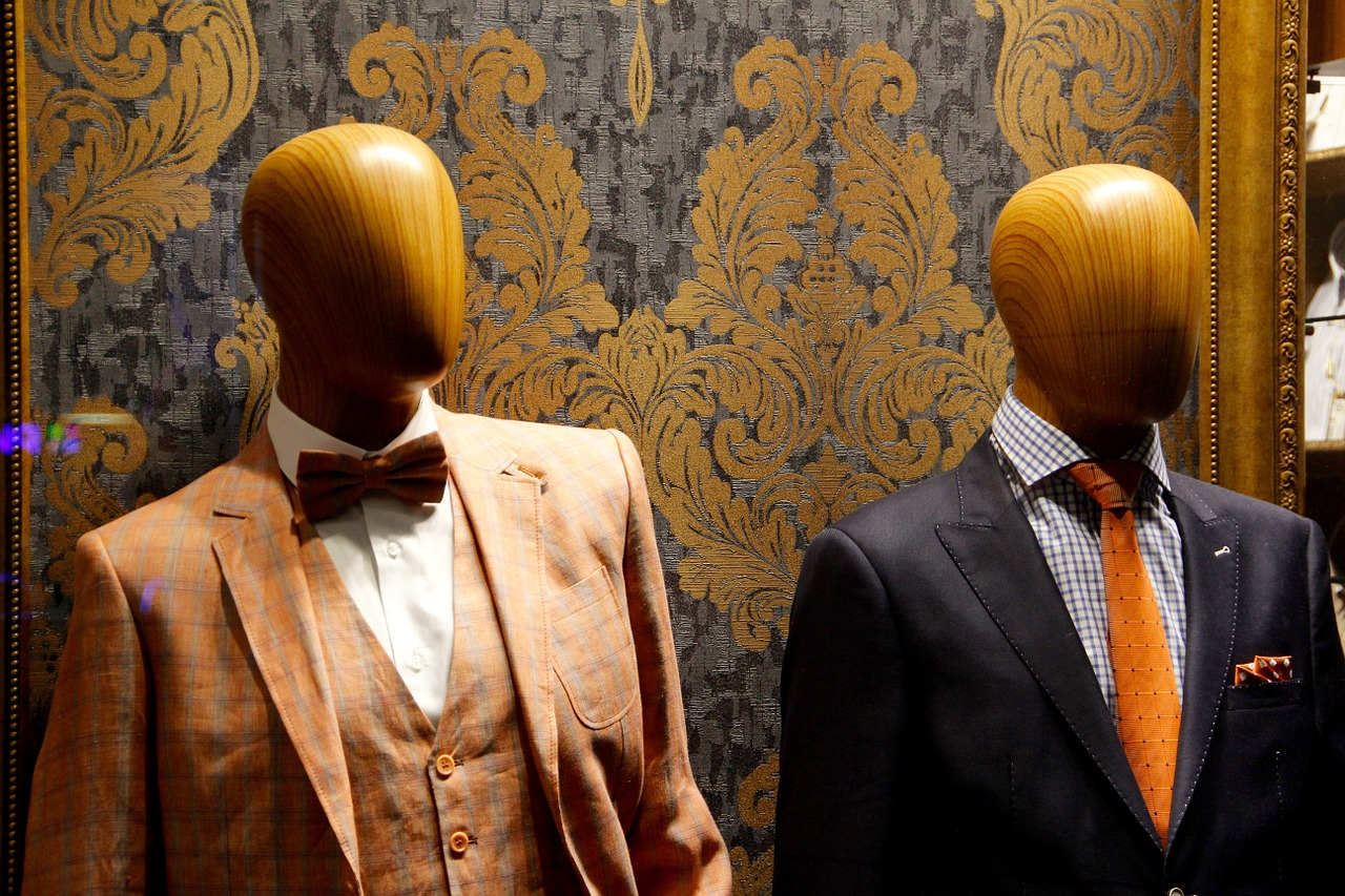 Image of men's clothing and dummies.