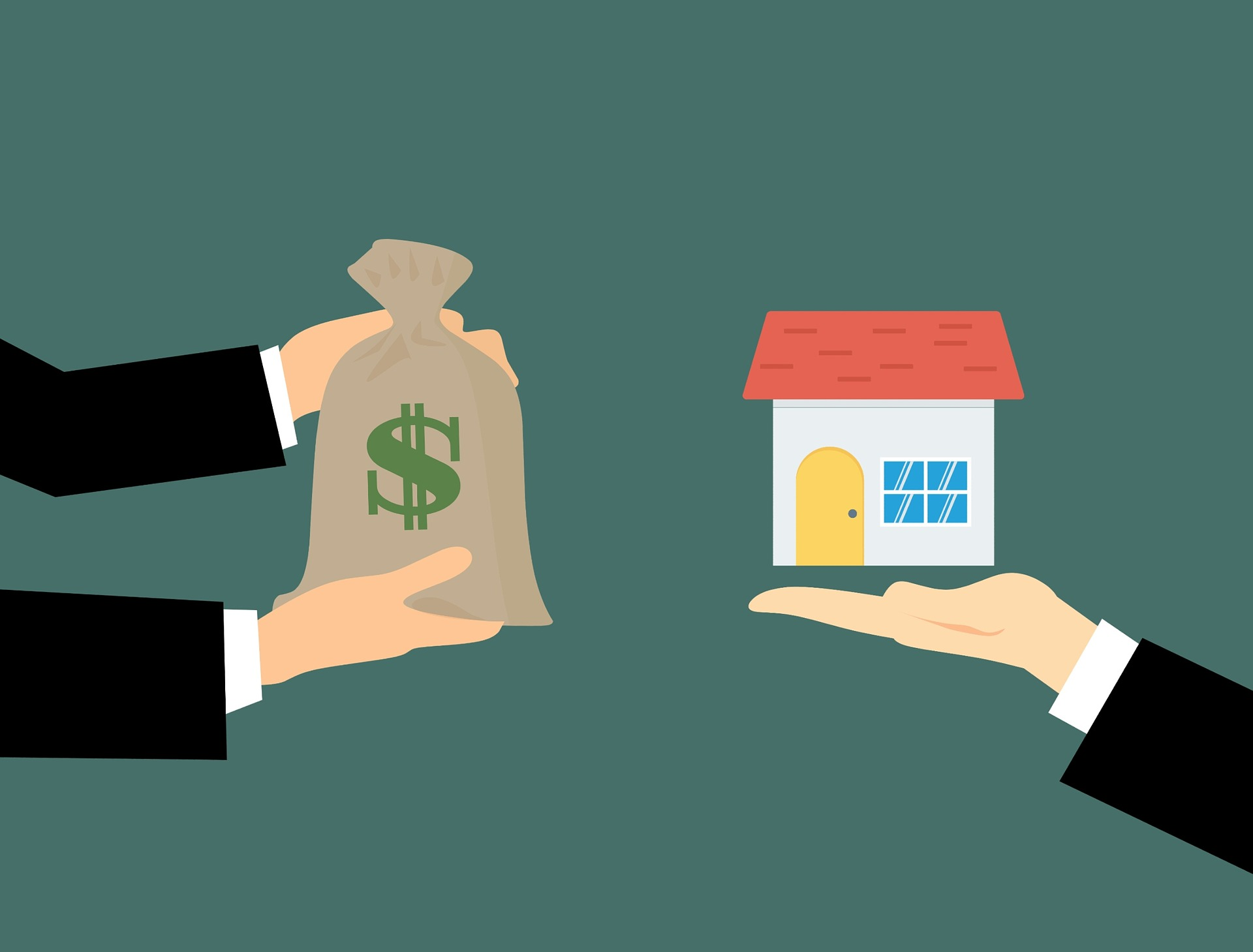 Clip art of a Toronto real estate agent and house.