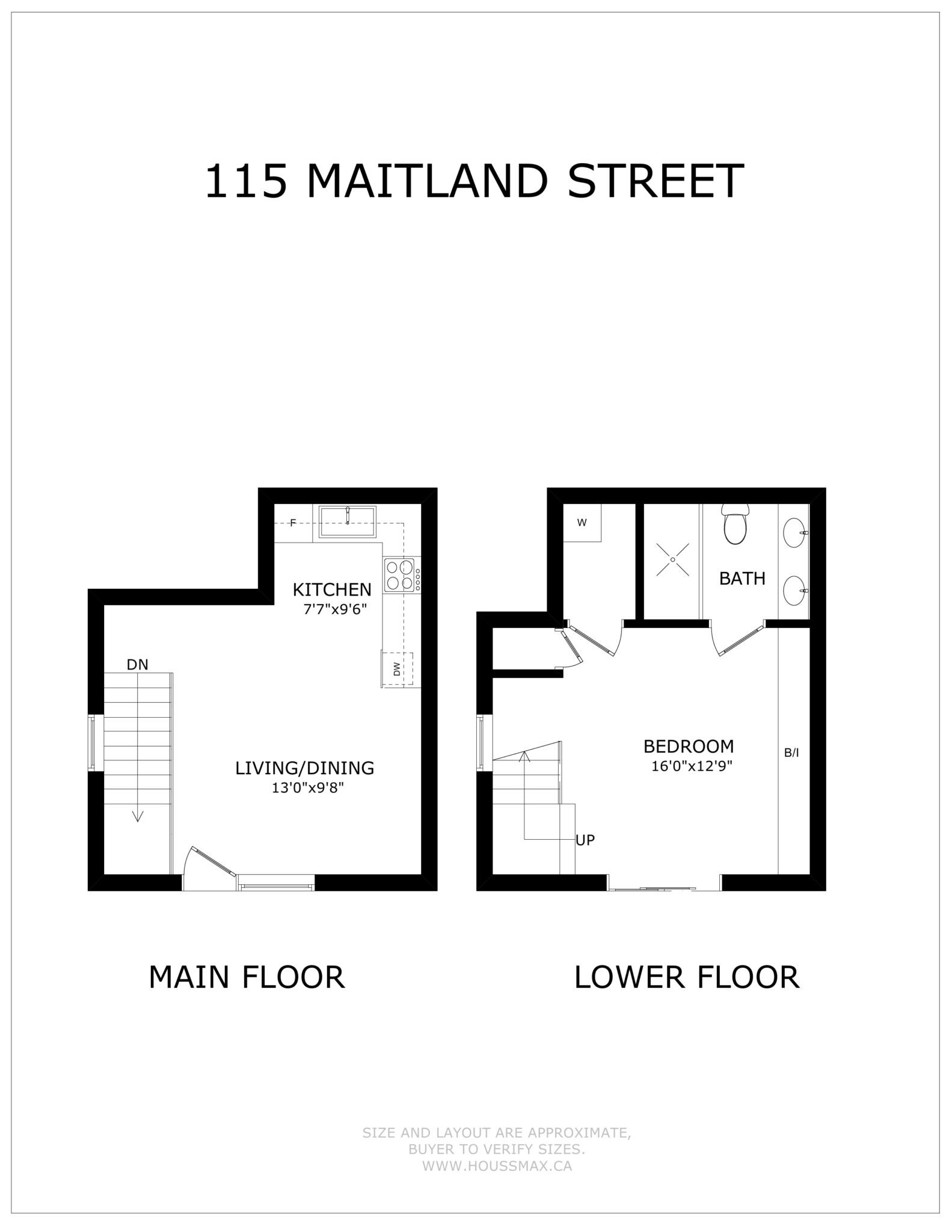 Floor plans for 115 Maitland Street