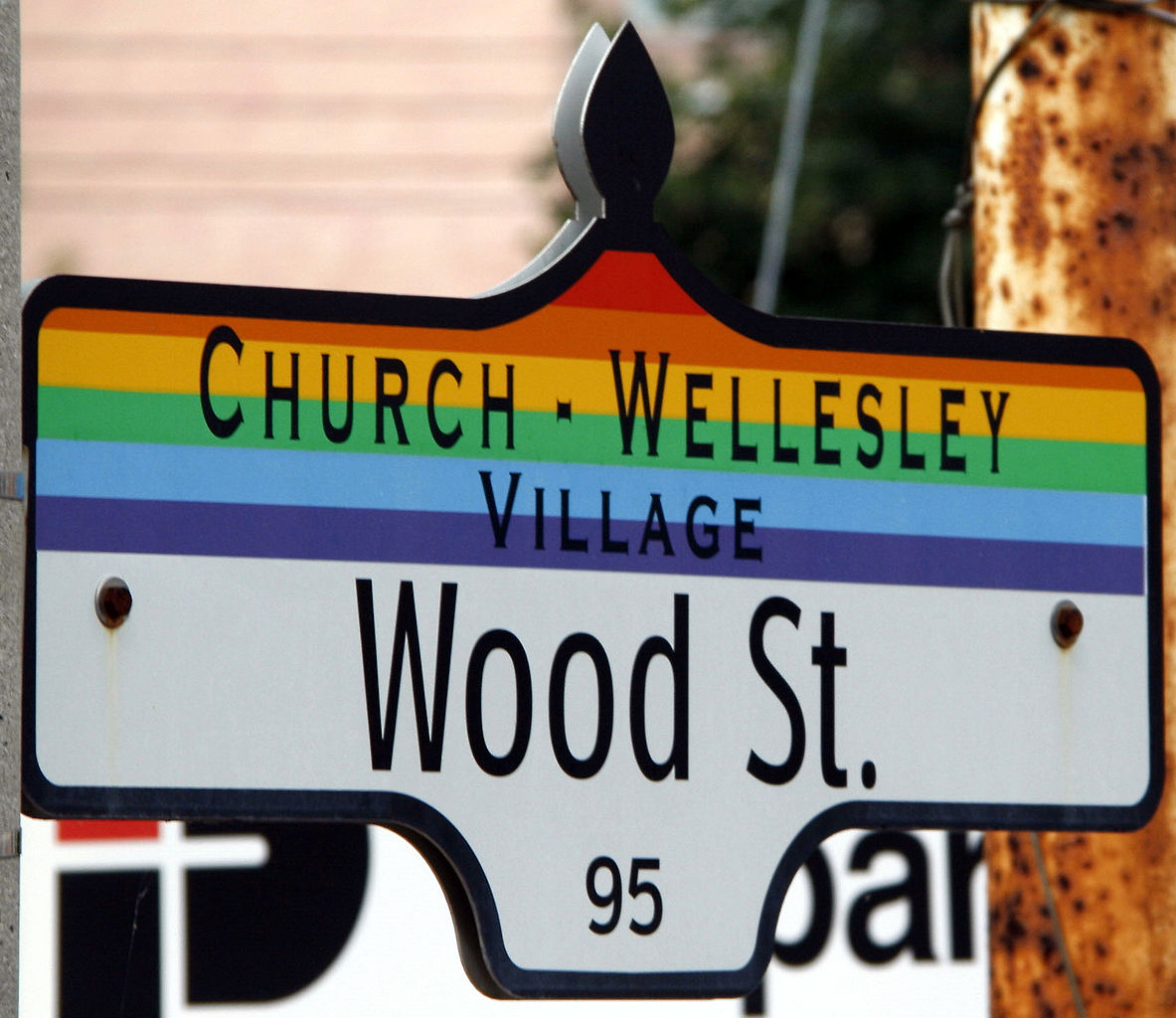 Church and Wellesley sign