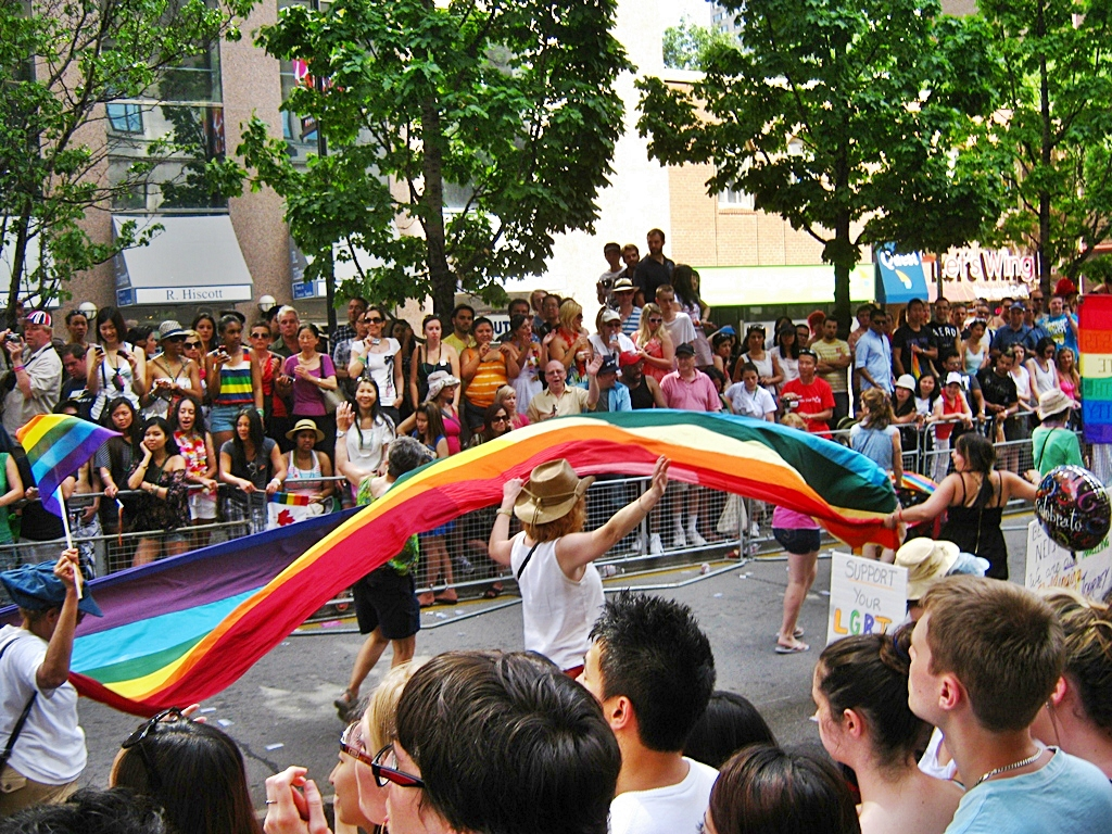 Photo of Pride Parade in Toronto's The Village.