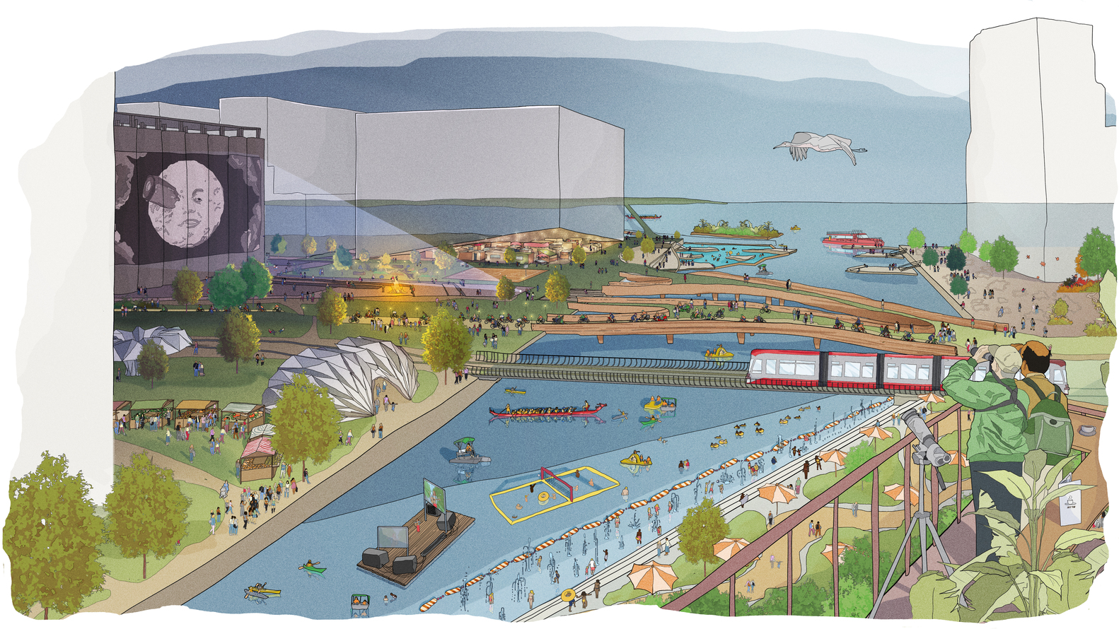 Another pic of Quayside and people and nature.