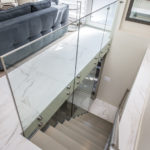 A rather striking view of the glass staircase.