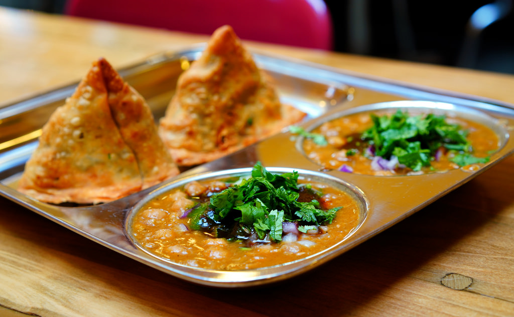 Samosas and Indian food; Gerrard Street