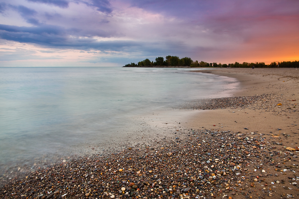 Finally, we see Woodbine Beach in East End Toronto during sunset.