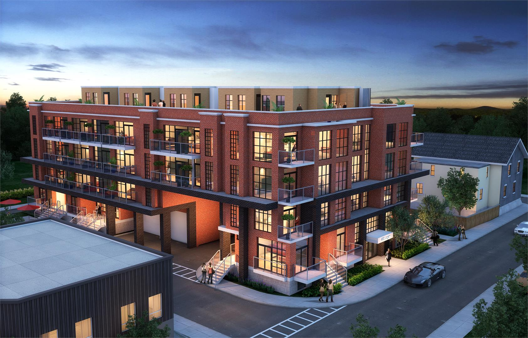 3d image of Elevate at Logan, new condo development on 485 Logan Avenue.