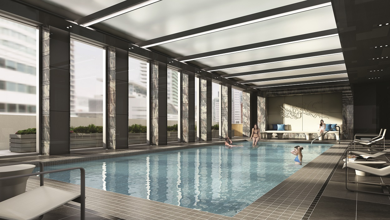 Swimming pool at 355 King West