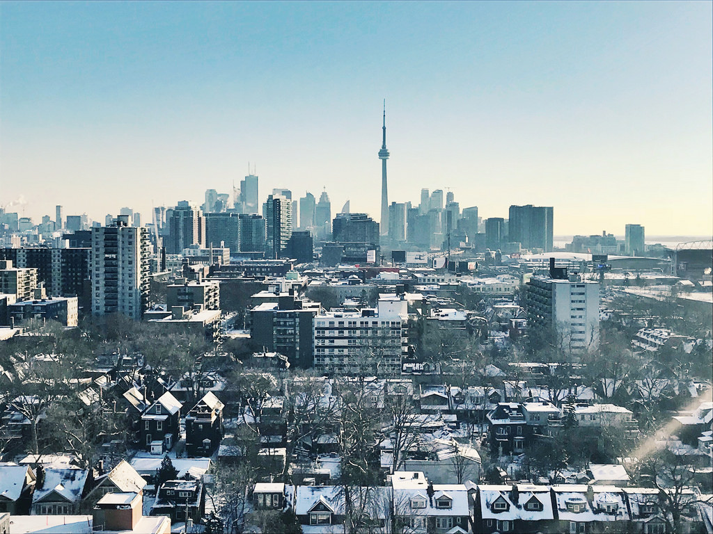 Photo of Toronto in winter market.