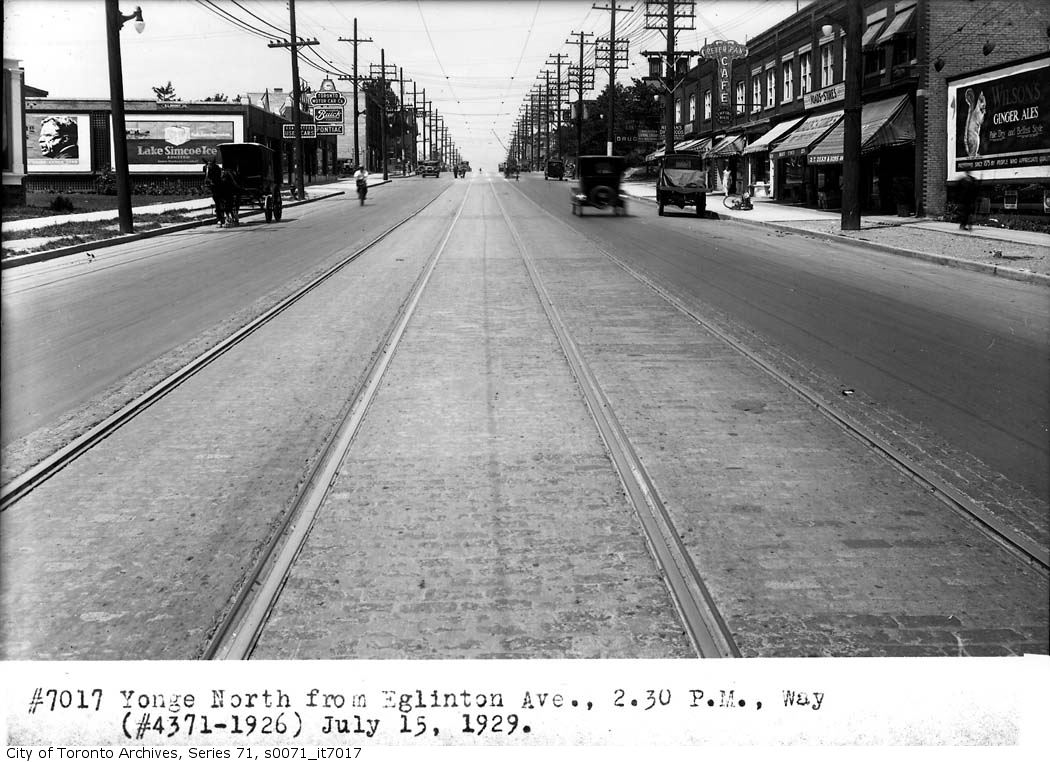 Photo of Yonge and Eglinton from 1929