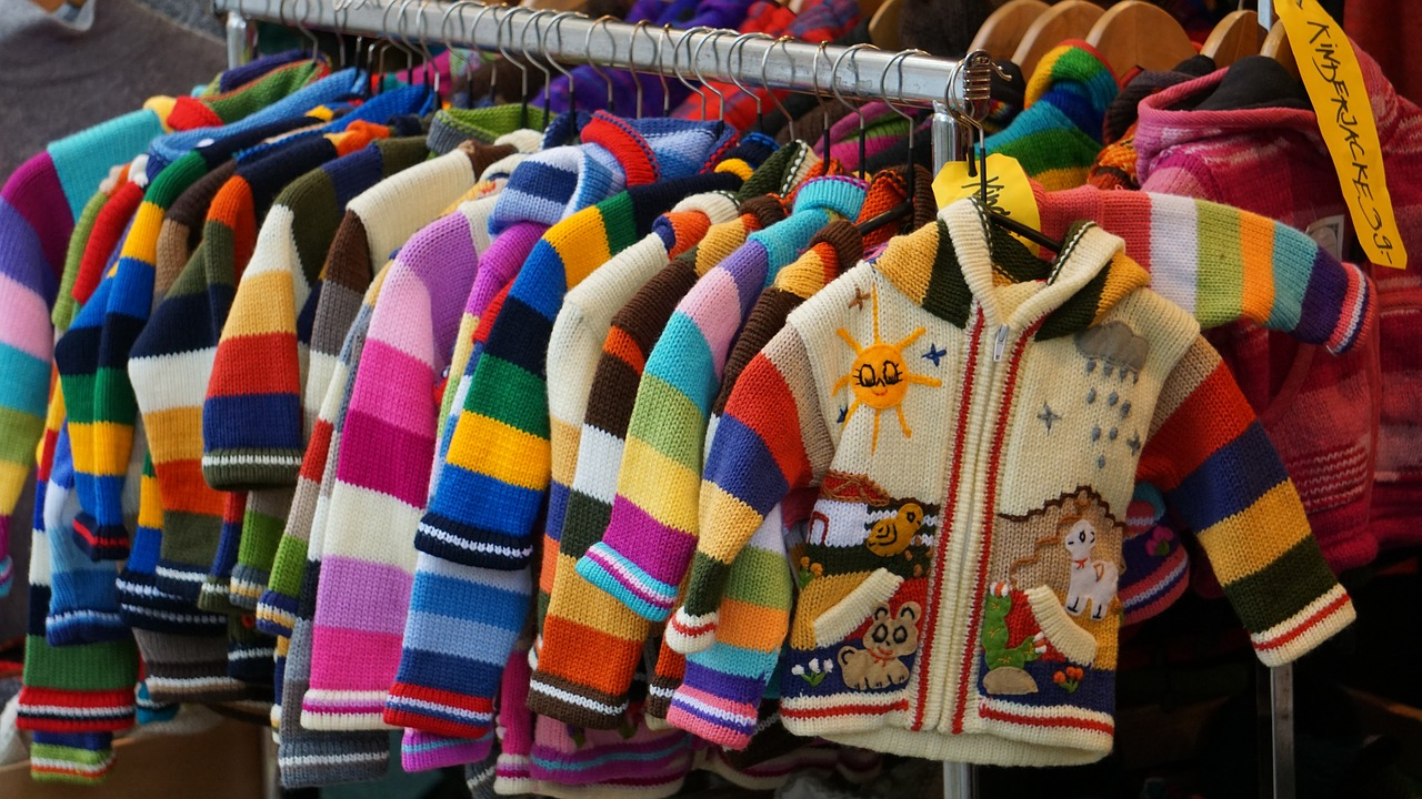 Cute and colourful children's sweaters