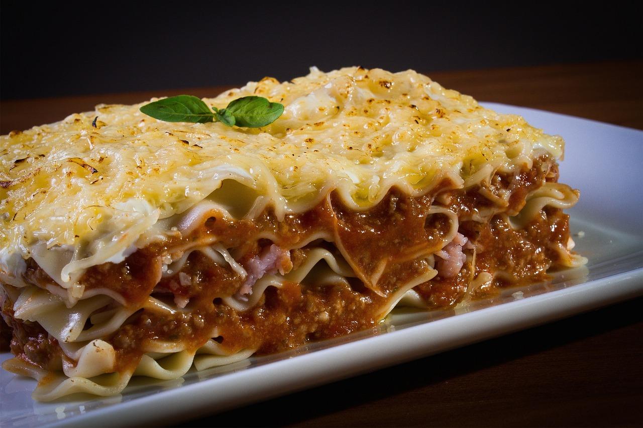 Close up of lasagna looking so delicious