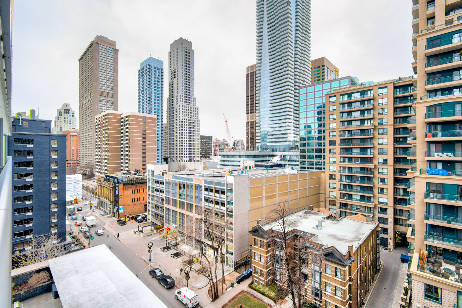 View from Casa Condos and 33 Charles St E balcony of Church-Yonge Corridor