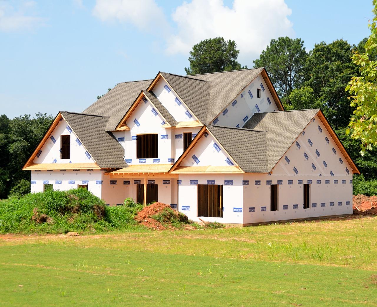Custom house under construction