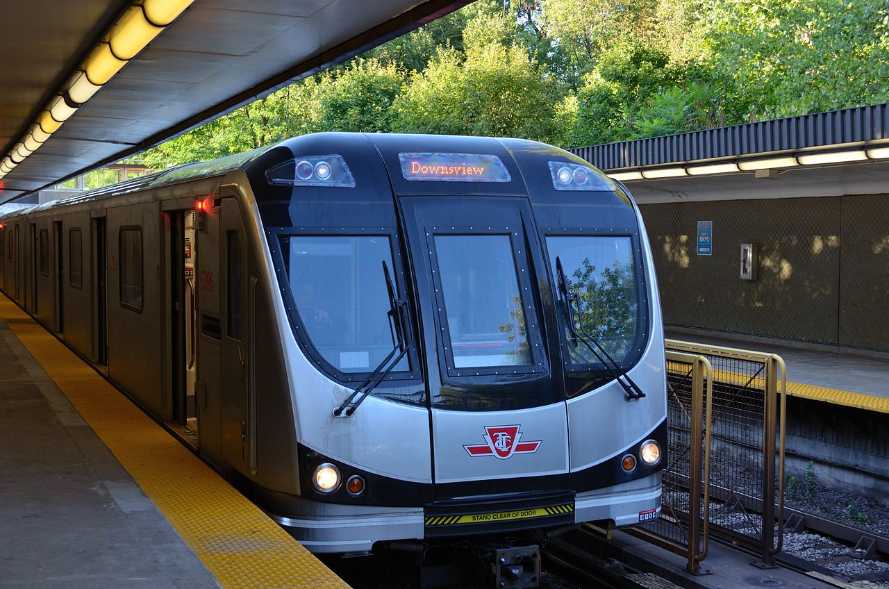 TTC train and station