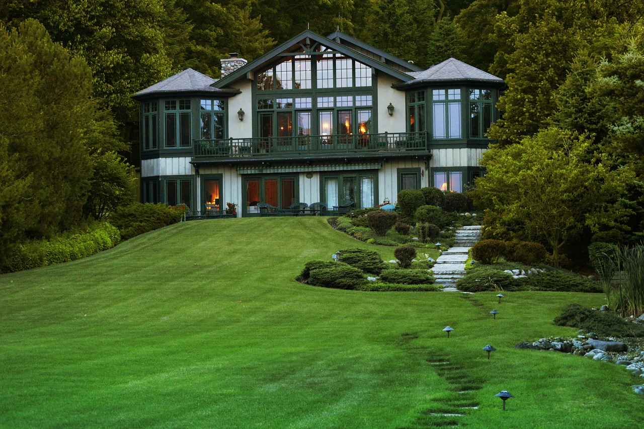 Lovely mansion; shows result of hard work put into custom home
