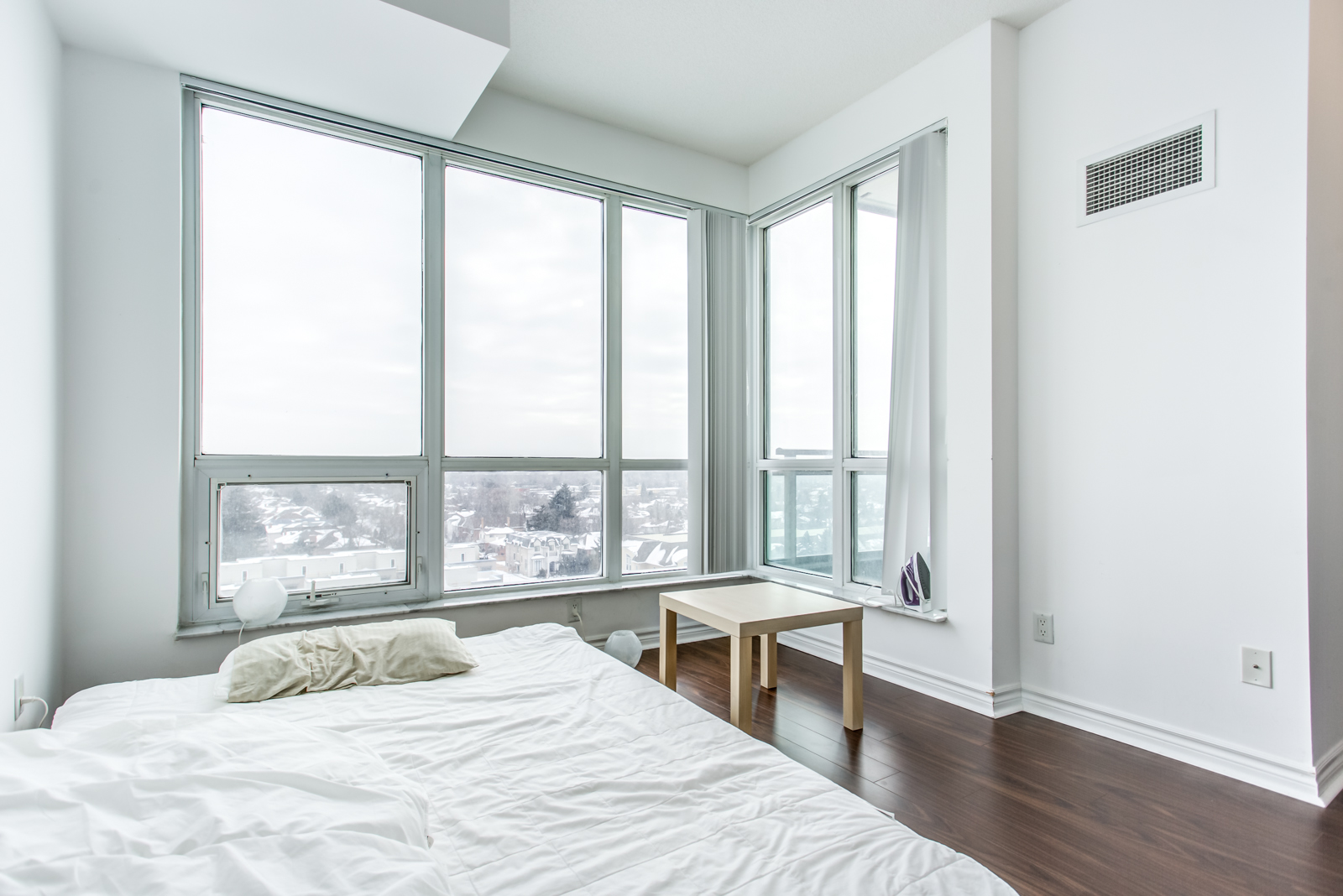 Master bedroom and windows