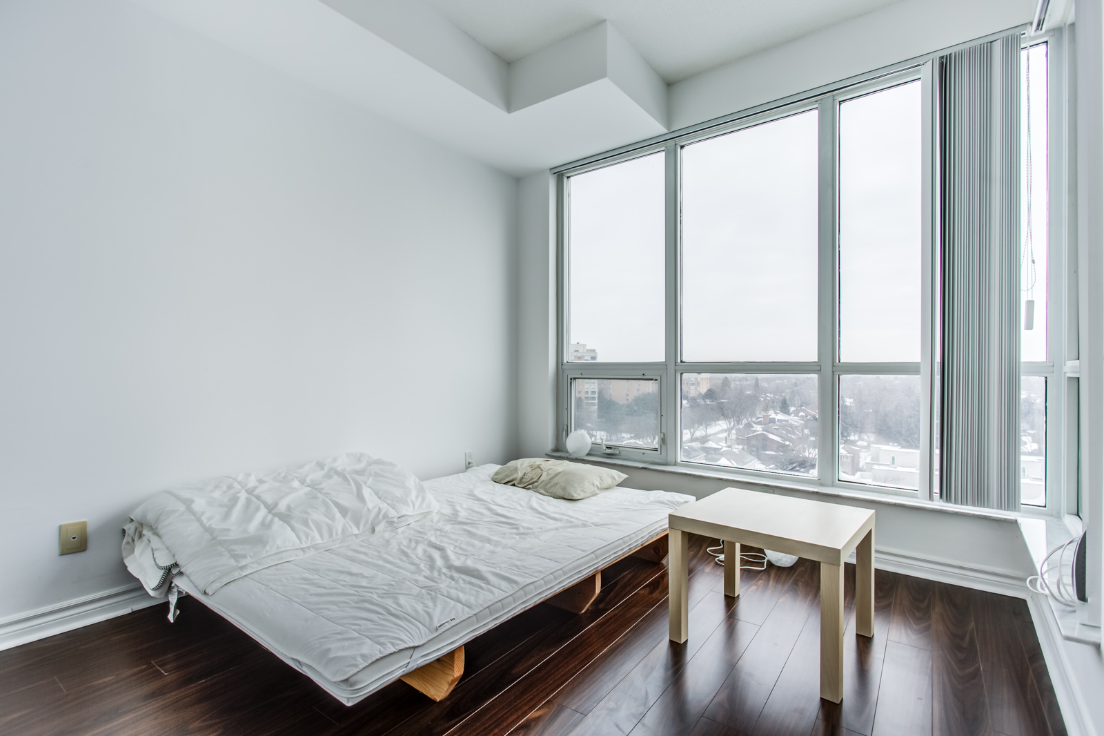 Another angle of master bedroom and windows.
