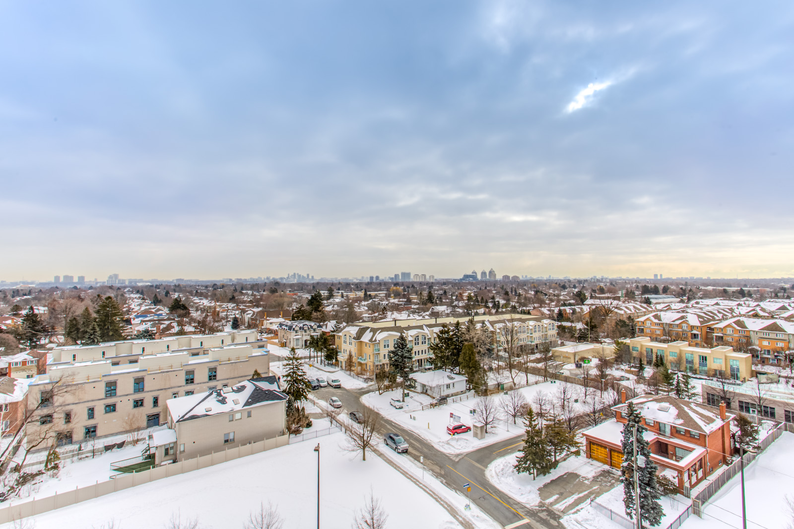 Another balcony view of Willowdale East and North York. It's winter and there's so much snow.