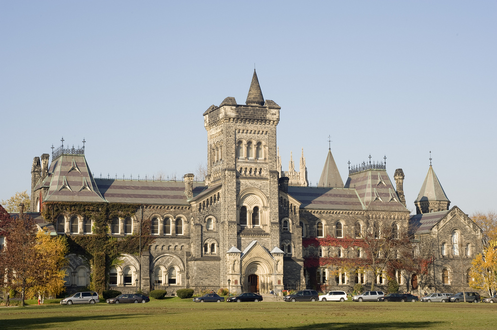 University of Toronto St. George Campus lawn and facade