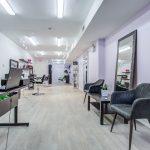 Few hair salons are so spacious.
