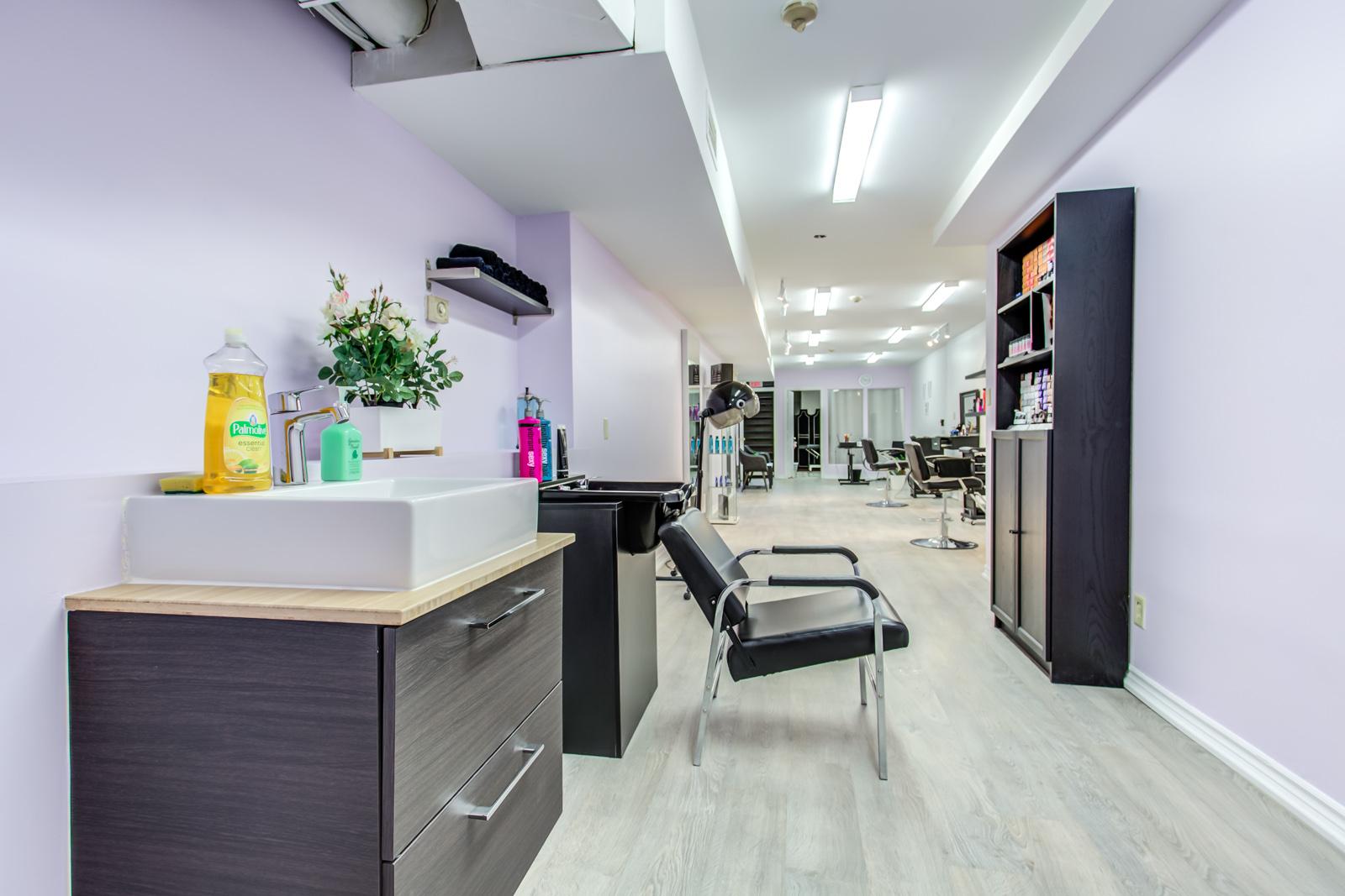 Sink and shampoo station