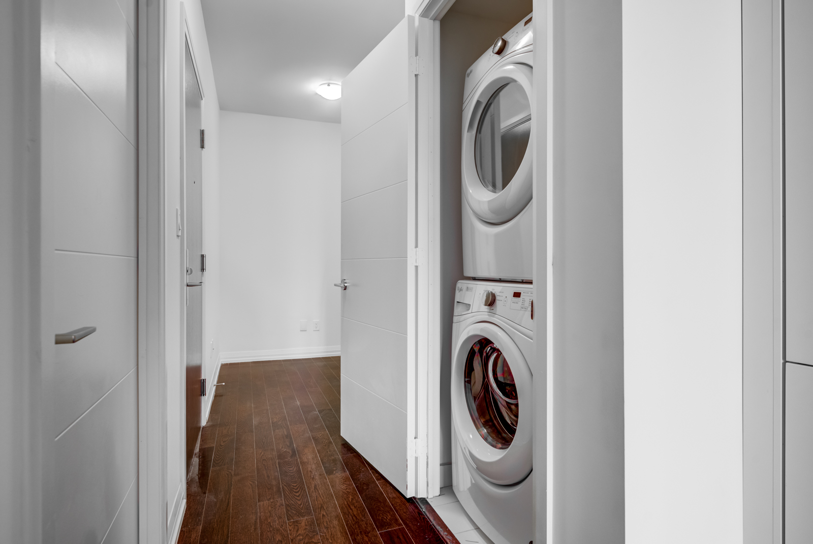 Unit 620's den and laundry room.