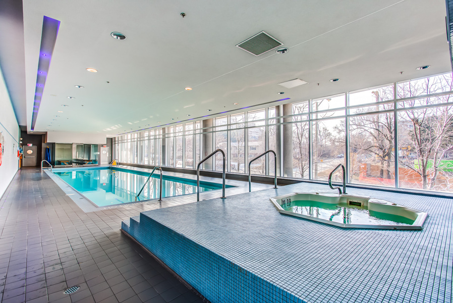 Another amenity of Arc Condos is this whirlpool and swimming pool.