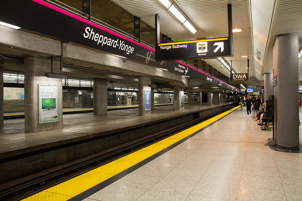 Image of Yonge-Sheppard subway station in North York, Toronto.