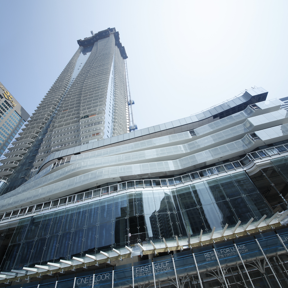 At 76-storeys, One Bloor on Yonge St is the 10th tallest residential building outside of Asia.