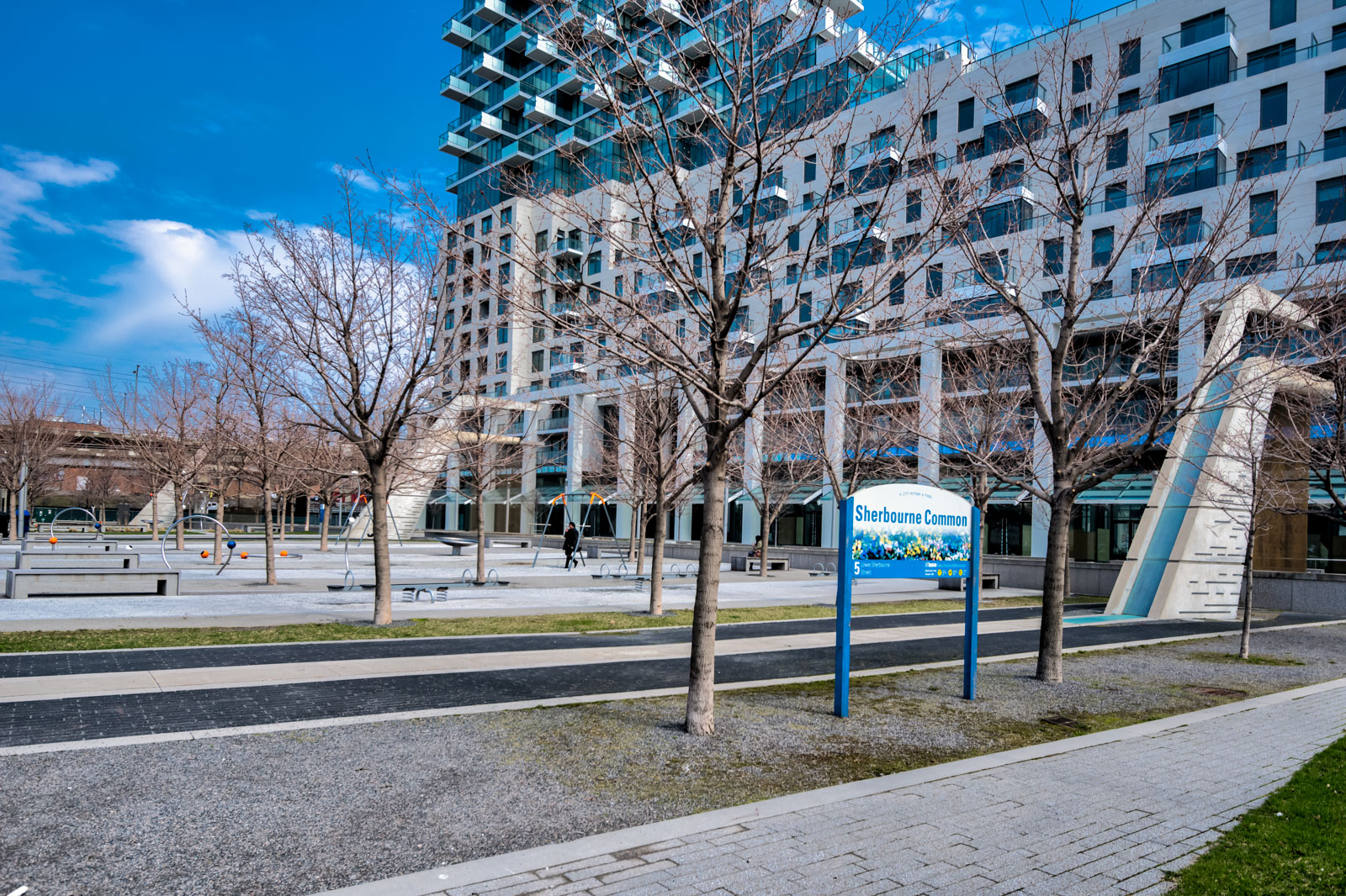 Pic of Sherbourne Commons, a park almost right outside 16 Bonnycastle.