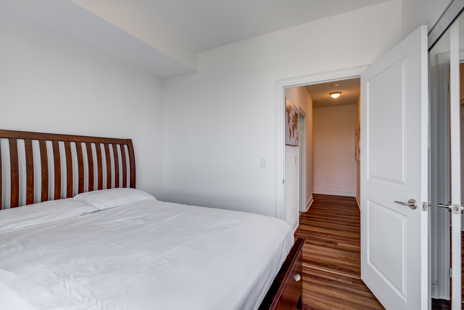 View of hallway in 28 Ted Rogers Way Unit 3609.