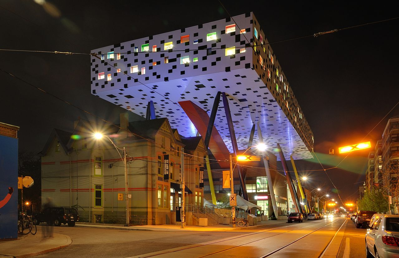 OCAD (Ontario College of Art and Design) as well as other buildings.