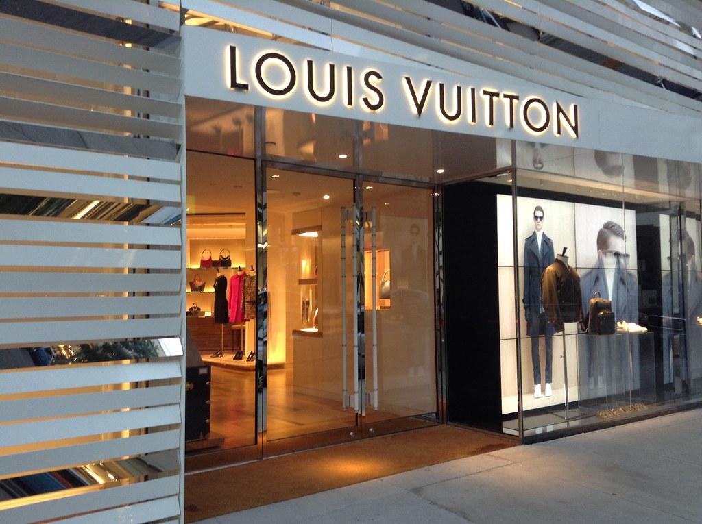 Louis Vuitton storefront.