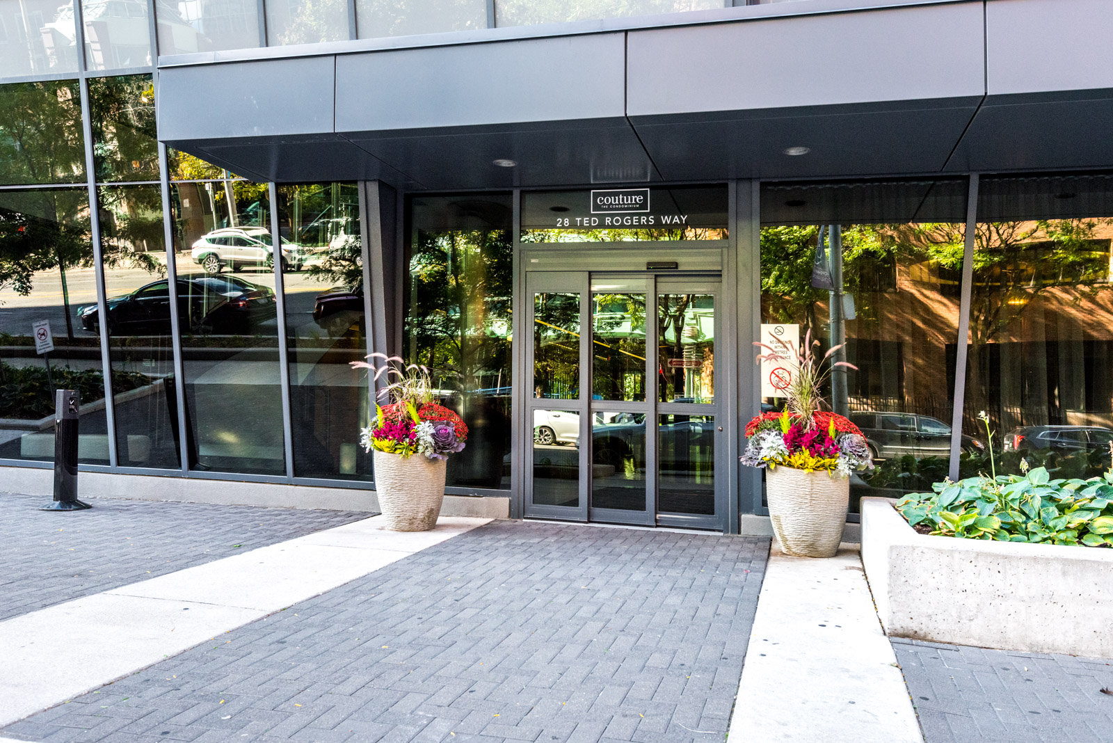 28 Ted Rogers Way (The Couture Condos) front entrance.