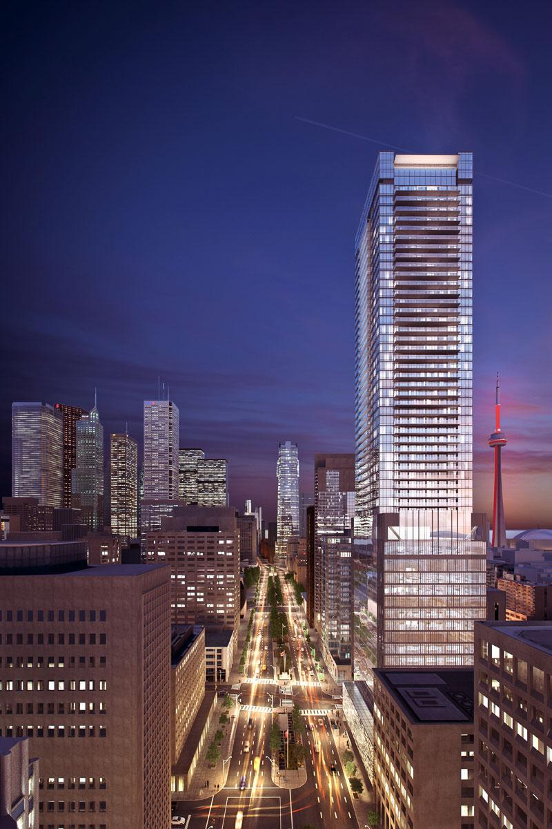 Another render of United Condos on 481 University Avenue in Toronto's Financial District.