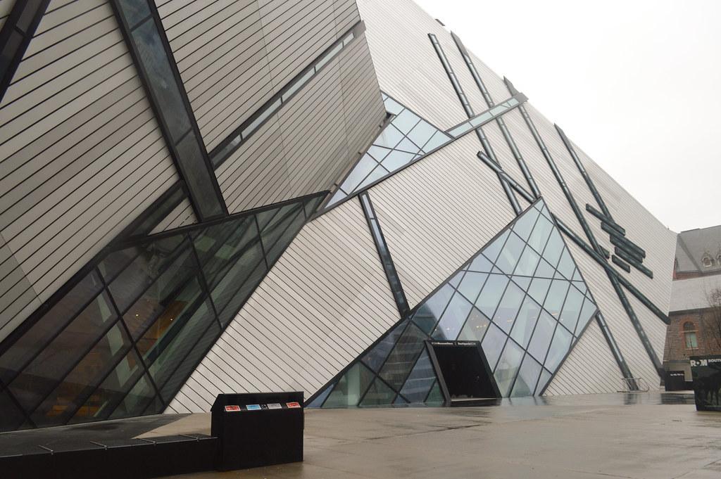 Exterior of Royal Ontario Museum in Yorkville, Toronto Ontario.