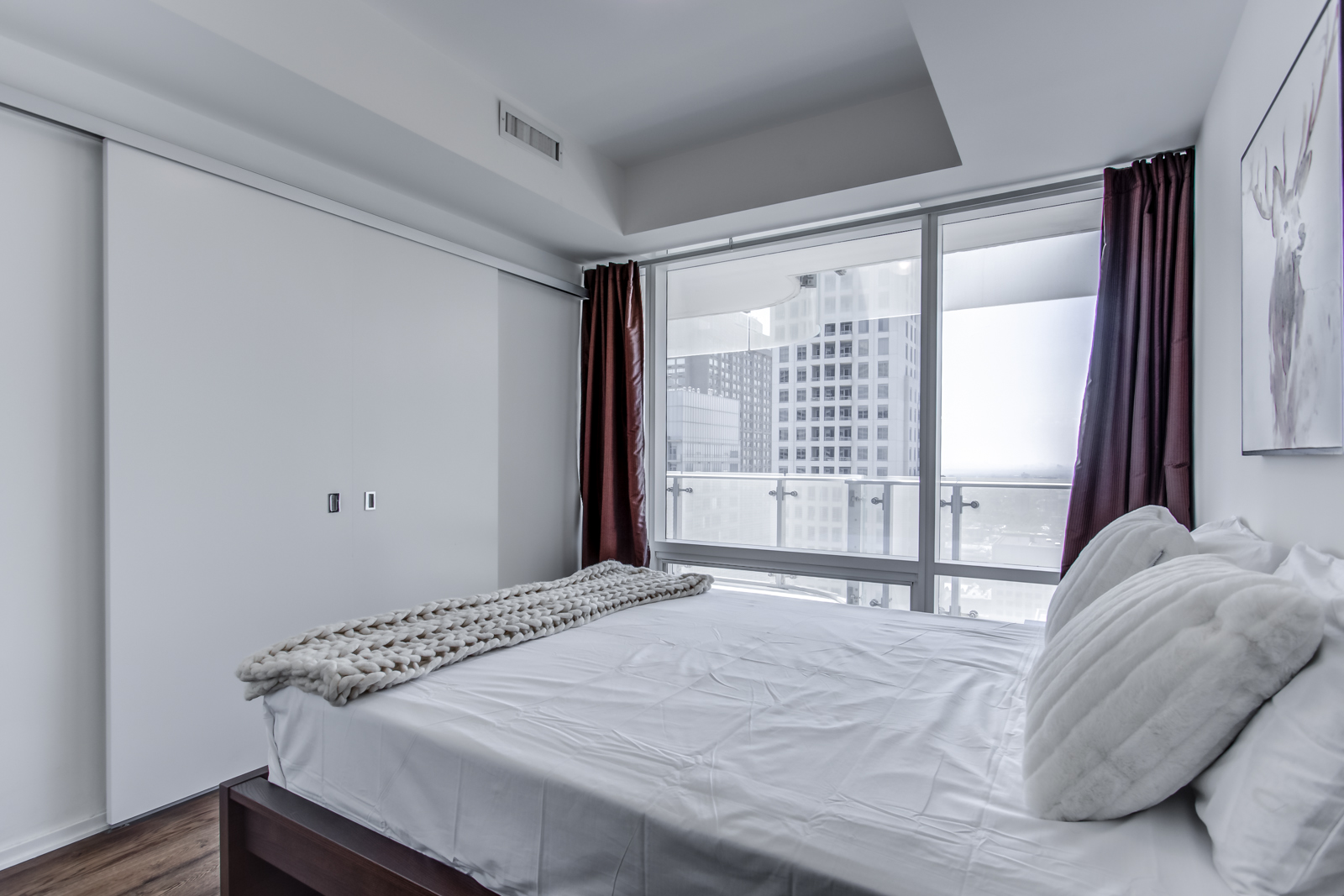 Another angle of 1 Bloor St E Unit 3408 master bedroom.
