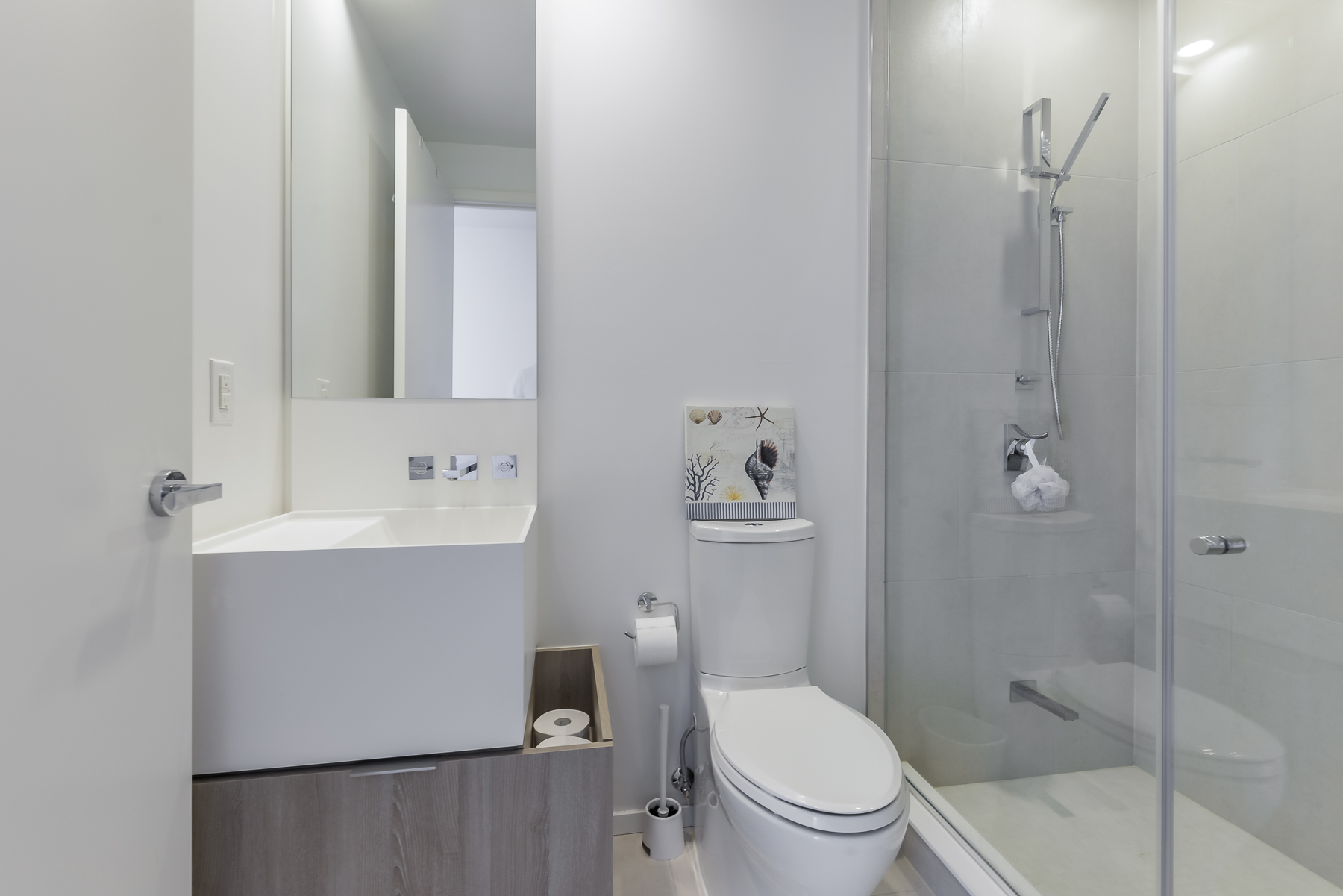 2nd washroom with walk-in shower - 1 Bloor St E Unit 310 Toronto.