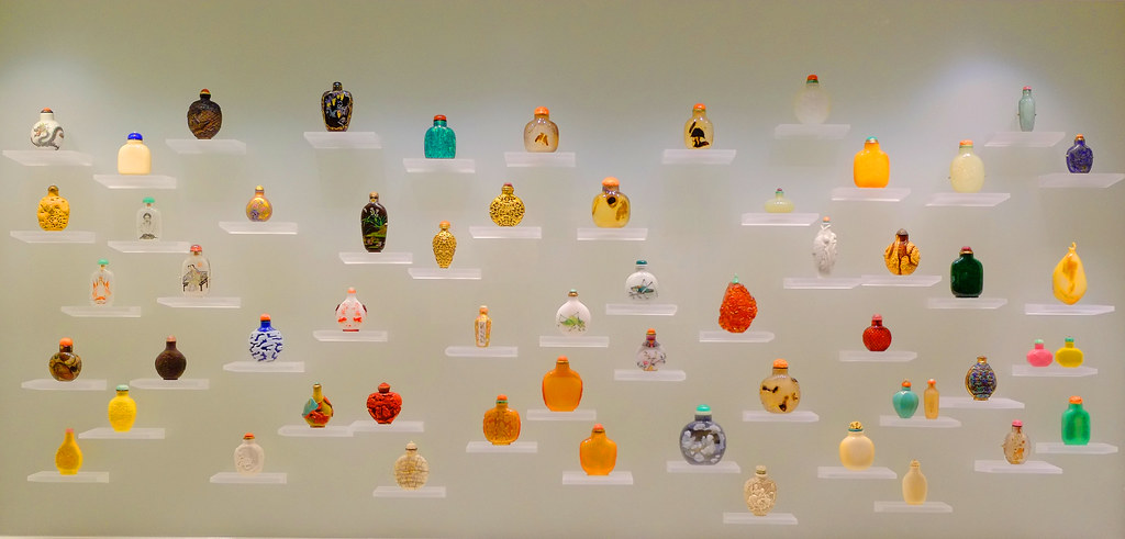 Small vases on shelves at the AGO (Art Gallery of Ontario).