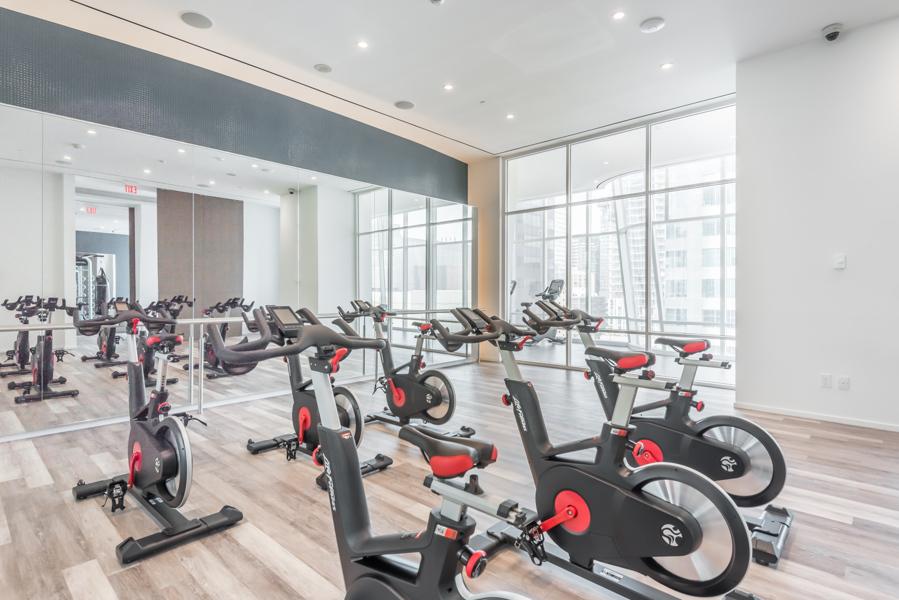 One Bloor Condos amenity - Spin Cycle room.