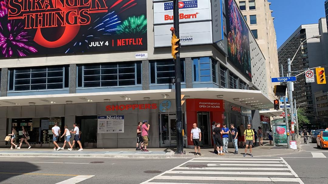 Shoppers Drug Mart store on Yonge and Carlton St Toronto.